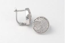 Silver earrings Moon
