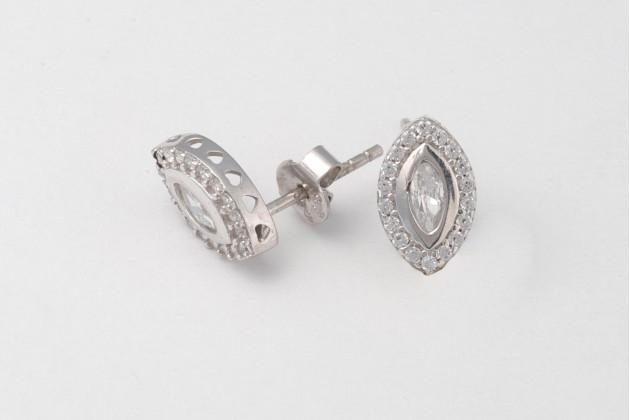 Classic silver earrings Nature - Earrings - SILVER