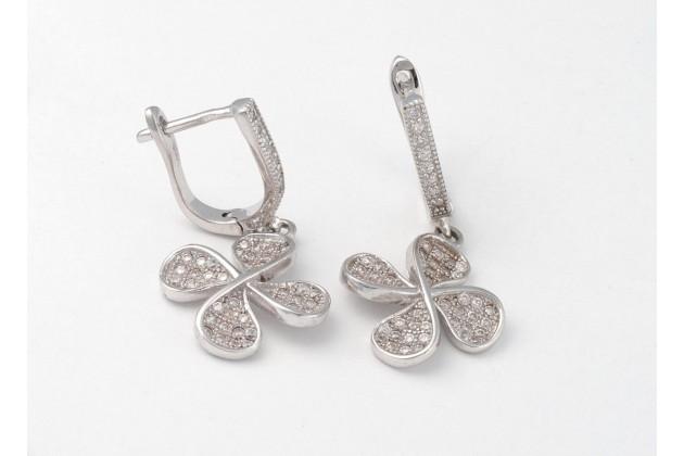 Silver earrings Clover