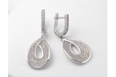 Silver earrings Teardrop