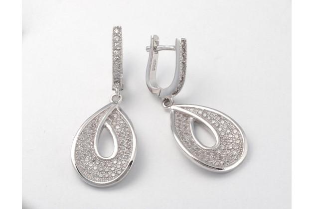 Silver earrings Teardrop - Earrings - SILVER