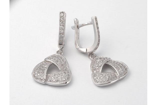 Silver earrings Trina