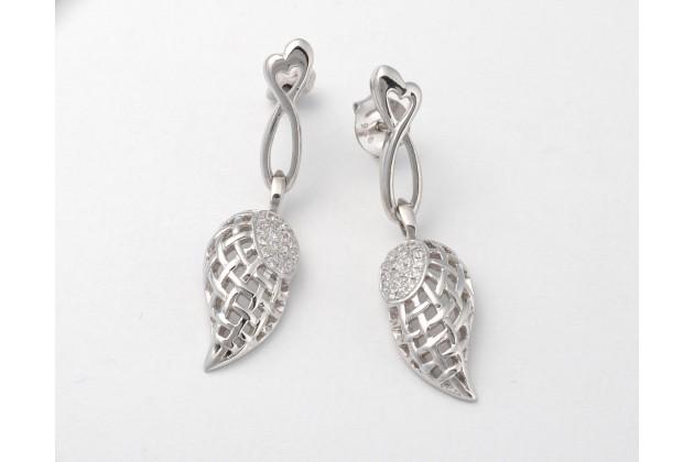 Silver earrings Wings