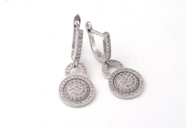 Silver zircon earrings