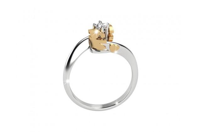 leBebé Gioielli white and yellow gold diamond ring