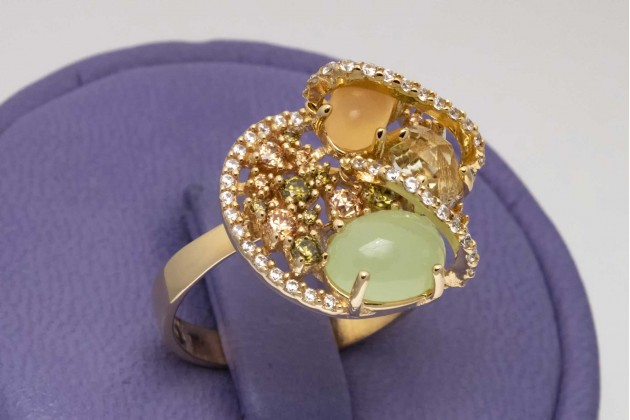 Ring - Rings - GOLD Color stones rings Exclusive rings Rings with CZ
