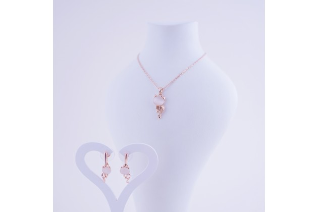 Necklace and earrings Cat - Jewelry Комплекти
