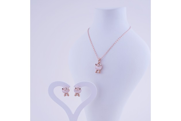 Necklace and earrings Frog