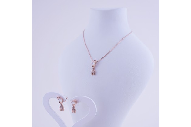 Necklace and earrings Giraffe