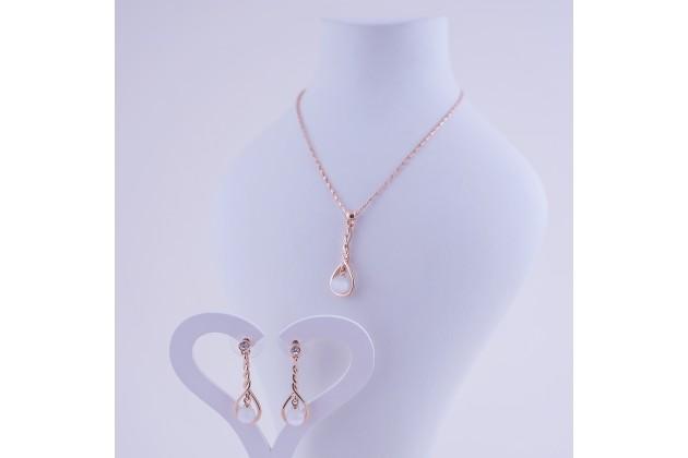 Necklace and earrings Teardrop - Jewelry Комплекти