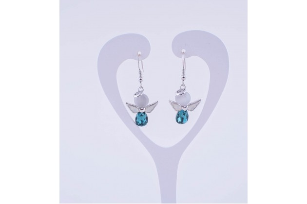 Blue angels earrings