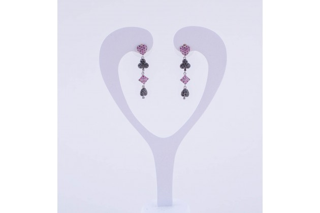 Poker Queen earrings - Jewelry Earrings