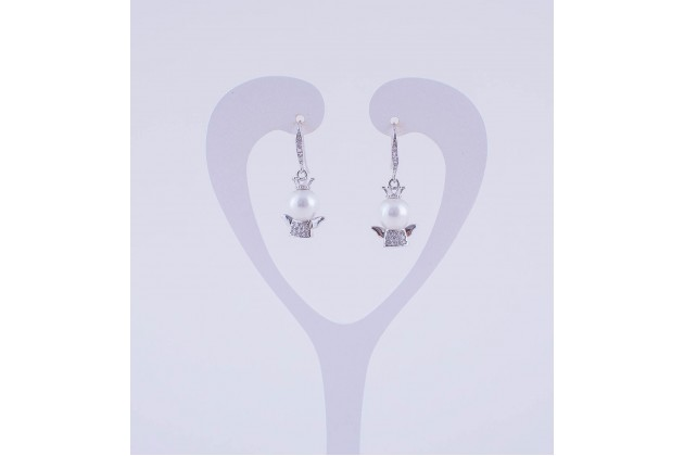 Angel pearl earrings