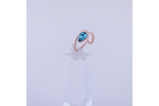 Rose and blue ring