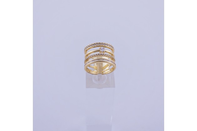 Solid crystal ring
