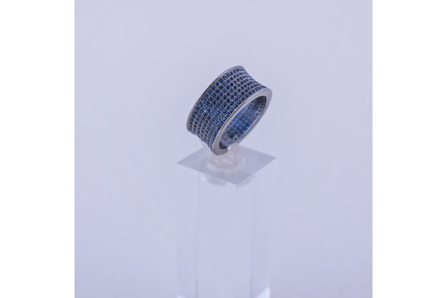 Crystal steel ring