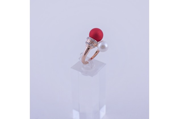 Two pearls Ring