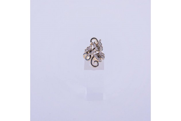 Accent ring with butterflies  - Rings