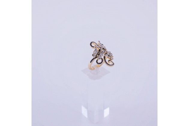 Accent ring with butterflies