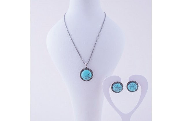 Ethno necklace and earrings