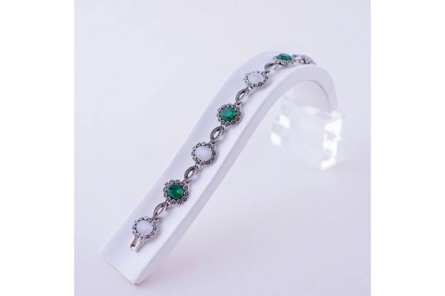 Ethno bracelet green