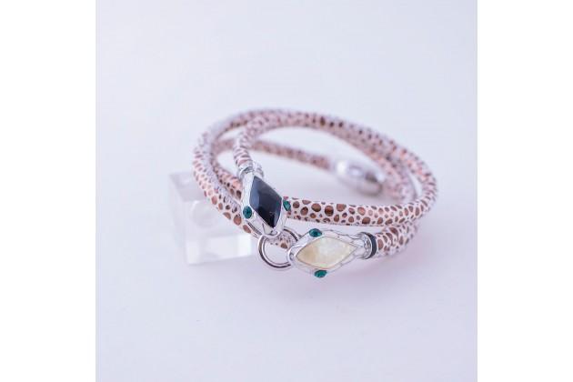 Trendy bracelet Snake heads