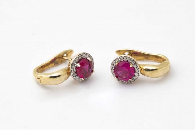 Earrings - Earrings - GOLD Color stones