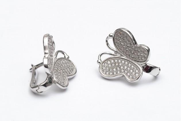 Silver butterfly earrings - Earrings - SILVER