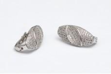 Elegant zircon silver earrings