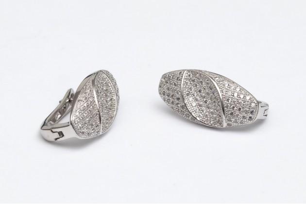 Elegant zircon silver earrings - Earrings - SILVER