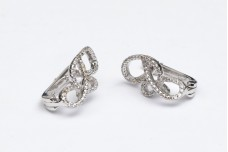 Elegant silver and zircon earrings