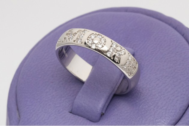 AMORE silver band ring