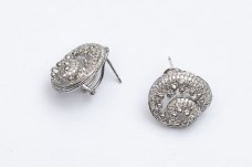 Silver sea shell earrings