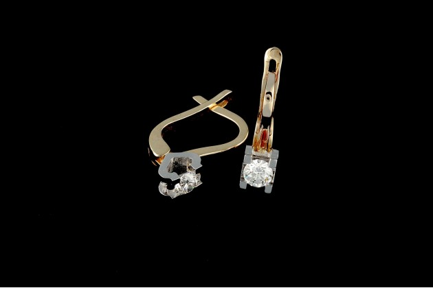 Classic diamond earrings 0.48 ct