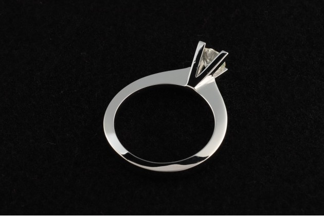 Classic solitaire diamond engagement ring 0.51 carats