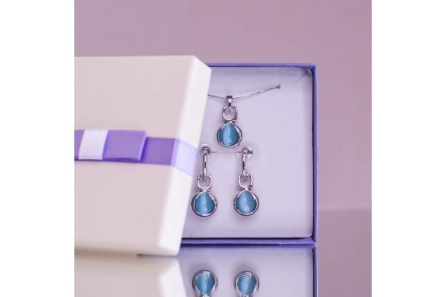 Blue quartz necklace and earrings