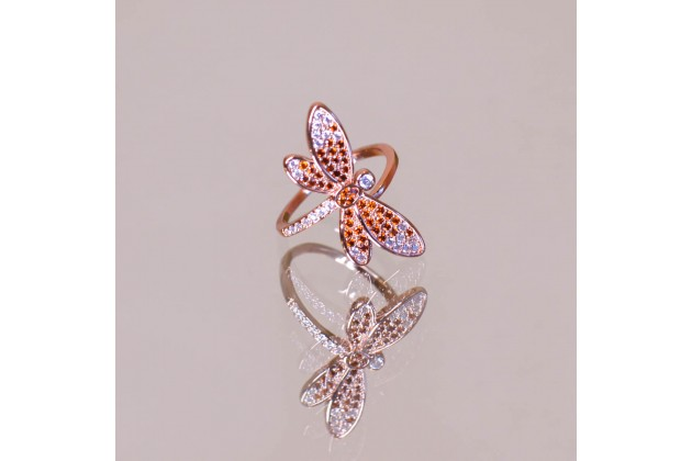 Ethereal dragonfly ring