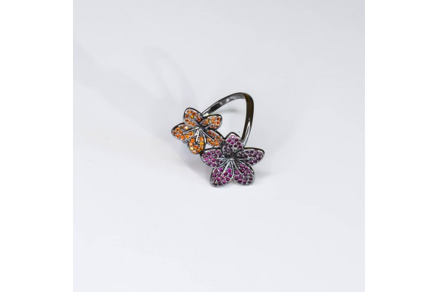 Exotic flowers ring