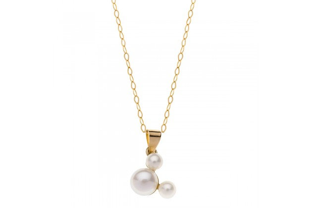 Mickey mouse pearl necklace