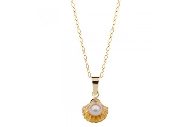 Disney Little mermaid gold necklace
