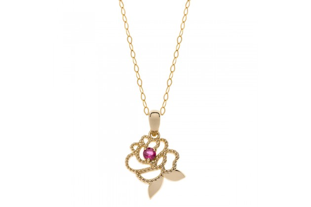 Enchanted rose gold necklace