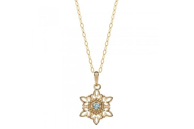 Blue topaz snowflake necklace Frozen