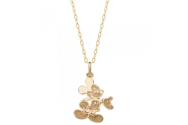 Hello Mickey gold necklace