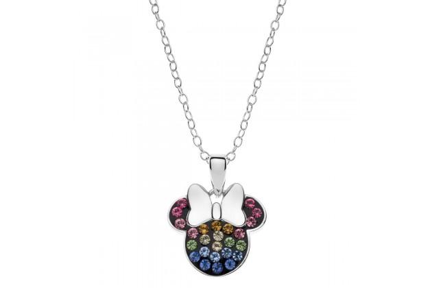 Minnie Mouse rainbow necklace