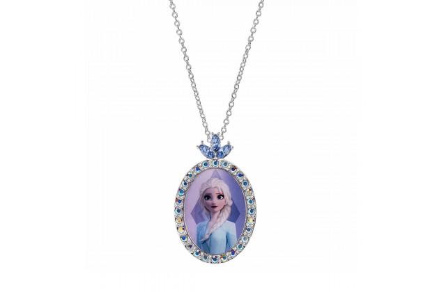 Silver necklace with crystals Princess Elsa
