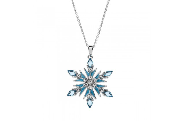 Sparkling Snowflake necklace with crystals Frozen