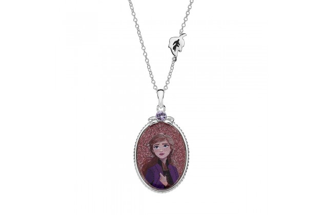 Princess Anna of Arendelle silver necklace