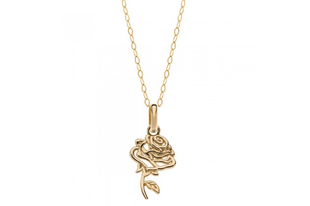 Rose of Bell gold necklace