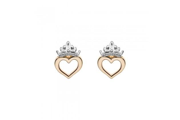Heart of the Princess Disney gold earrings