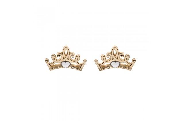 Disney gold earrings Princess tiara